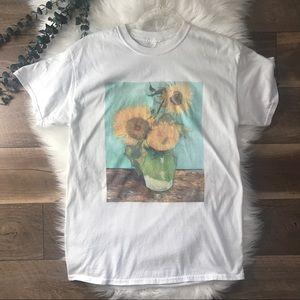Vintage Vincent Van Gogh Three Sunflowers Tee